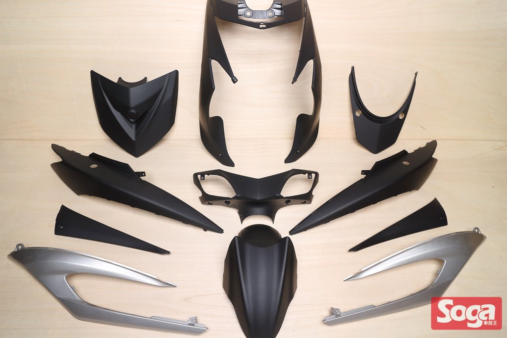 新勁戰三代-烤漆部品-消光黑配銀-鎖點強化-1MS-景陽部品