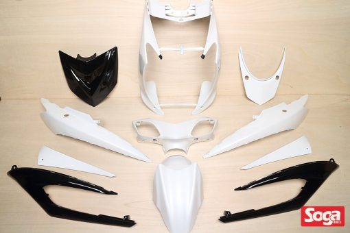 新勁戰三代-烤漆部品-白配黑-大盾黑-鎖點強化-1MS-景陽部品