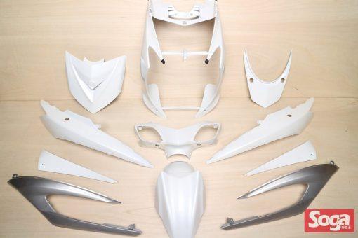 新勁戰三代-烤漆部品-白配銀-鎖點強化-1MS-景陽部品