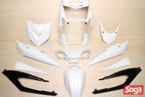 新勁戰三代-烤漆部品-白配黑-鎖點強化-1MS-景陽部品