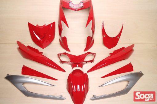 新勁戰三代-烤漆部品-亮紅配銀-鎖點強化-1MS-景陽部品