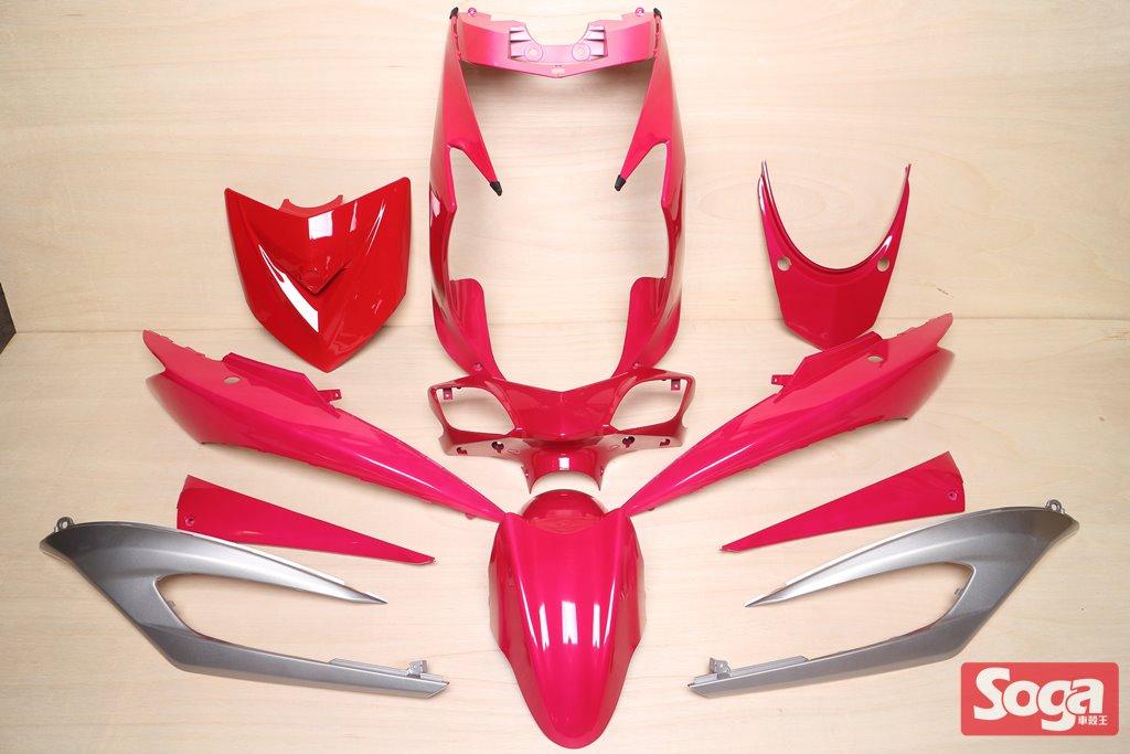 新勁戰三代-烤漆部品-桃紅配銀-鎖點強化-1MS-景陽部品