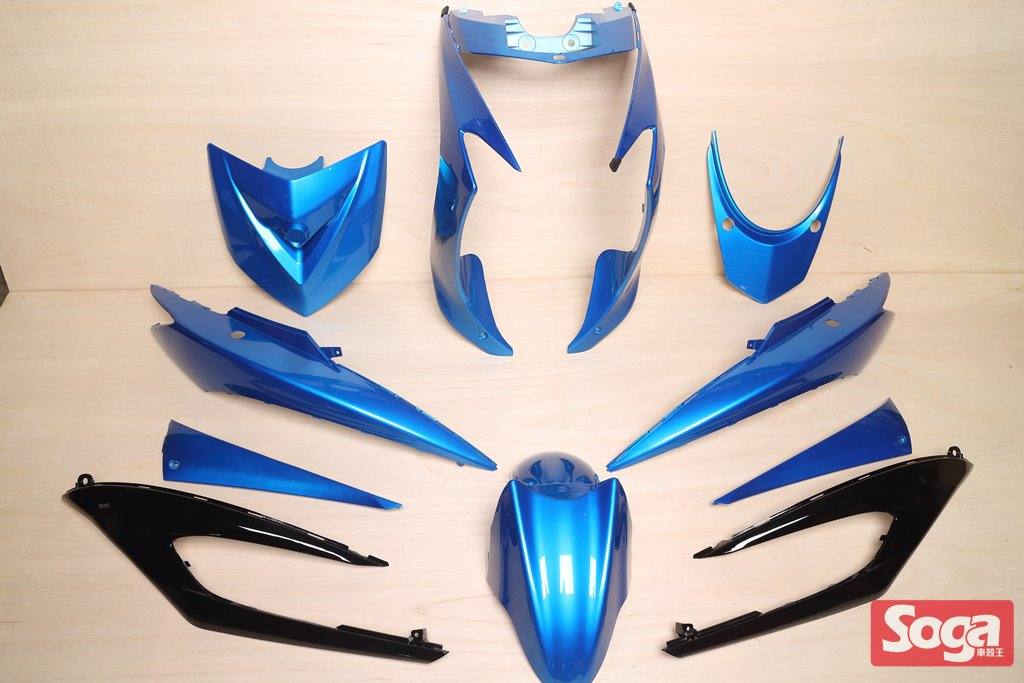 新勁戰三代-烤漆部品-風擎藍配黑-鎖點強化-1MS-景陽部品