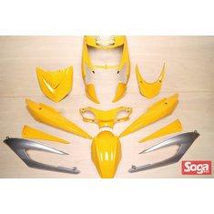 新勁戰三代-烤漆部品-競速黃配銀-鎖點強化-1MS-景陽部品