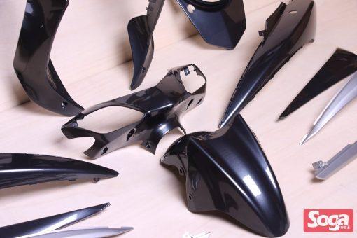 新勁戰三代-烤漆部品-冷冽黑銀配銀-鎖點強化-1MS-景陽部品