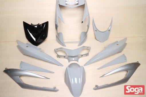 新勁戰三代-烤漆部品-軍灰配銀-鎖點強化-1MS-景陽部品