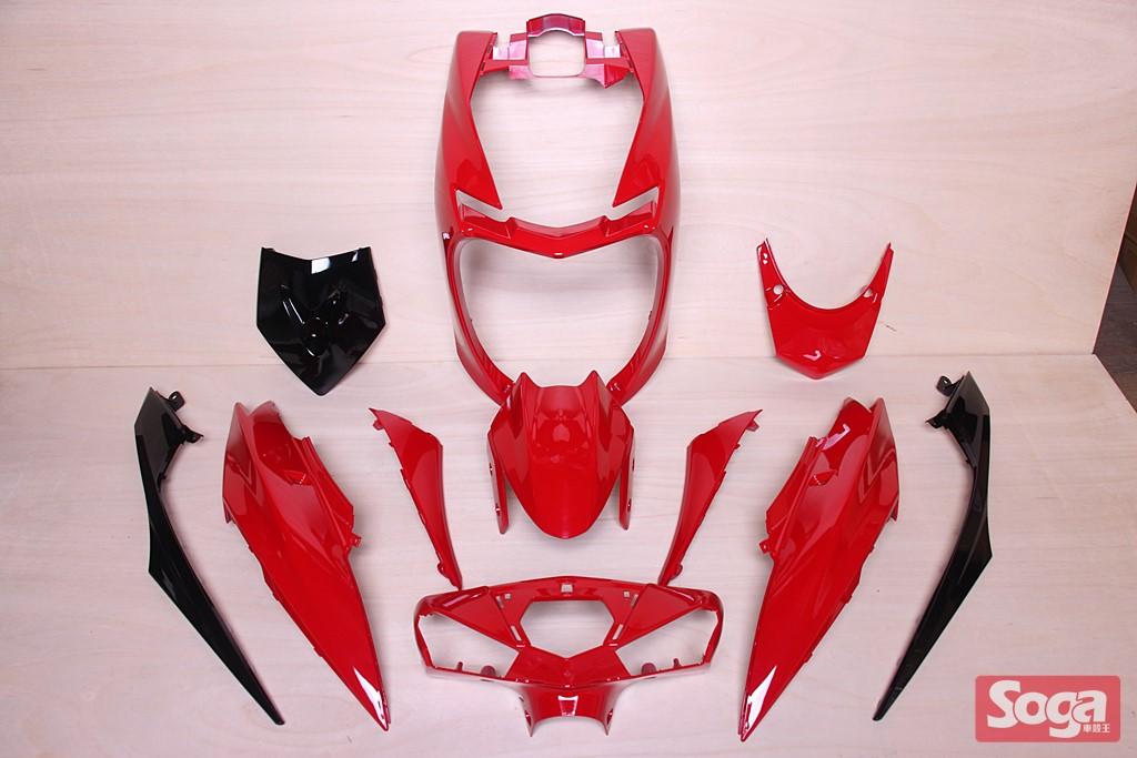 新勁戰-4代目-四代目-烤漆部品-亮紅配黑-2UB