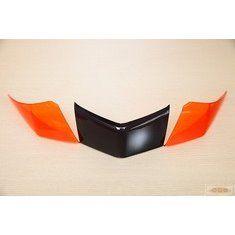 新新勁戰-尾燈貼片-歐規橘燻黑