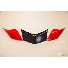 新新勁戰-尾燈貼片-紅/燻黑