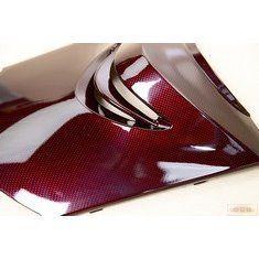 舊勁戰-卡夢部品-大盾牌-擋風板上-紅Carbon-5TY-景陽部品